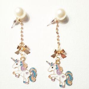 "New Betsey Johnson ""Rainbow Unicorn""Earrings"
